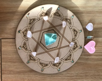 Heart Chakra Boost Crystal Grid