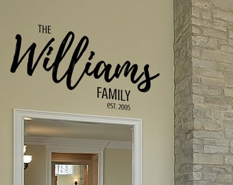 Last Name Decals for Walls - Last Name Decals - Last Name Decals for Walls Vinyl