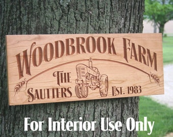 Family Farm Sign, Ranch Sign, Custom Farm Sign, Personalized Sign, Wedding Date Sign, Family Ranch Sign, Benchmark Custom Signs, Cherry FH