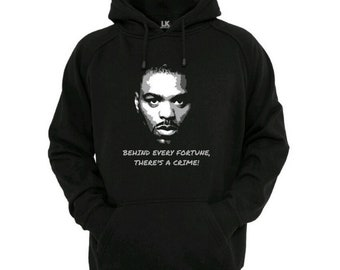 Behind Every Fortune Hoodie Urban Hip Hop Sweater Custom Customise Personalise Funny Slogan Jumper