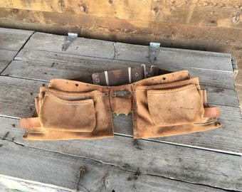 Nicholas Tool Pouch Belt - Pouch Carpenter Belt Pliers Holder, Hammer Metal Tape Holder - Contractors Lineman Tool