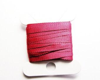 2.50 meters fine silk, gooseberry pink color ribbon, width 3 mm