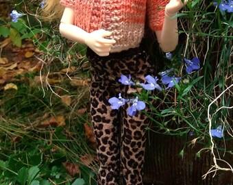 BJD Minifee panther pattern leggings