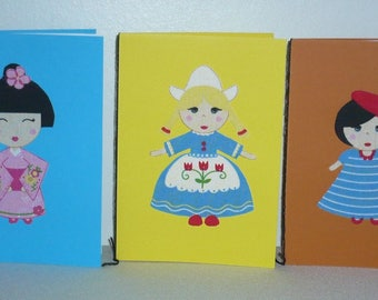 Set of five patterns dolls international pack 1