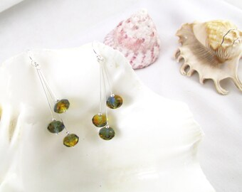 Autumn Colours Sterling Silver Earrings