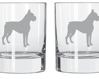 Boxer Glass  FREE Personalization