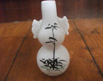 vintage JAPANESE BUD VASE small handpainted porcelain vase