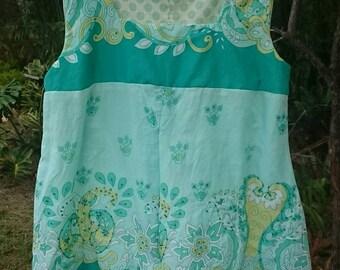 Beautiful green skirt fabric