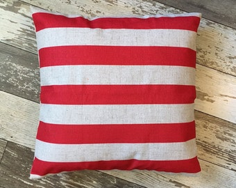 Red Stripe-pillow cover