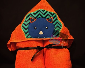 Triceratop Dinosaur Hooded Towel **INSTANT DOWNLOAD** Embroidery Design!