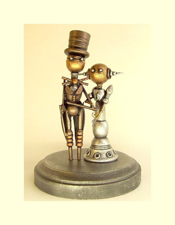 Steampunk Wedding Cake Toppers - Steampunkary