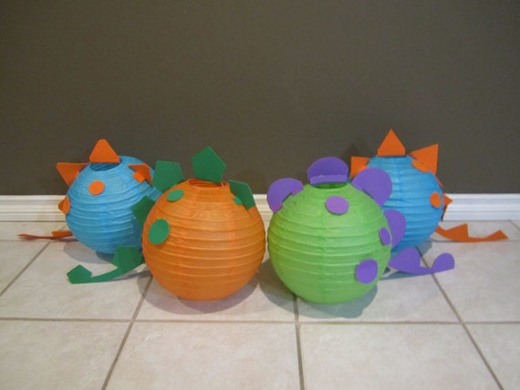 Dinosaur paper lantern decoration kit pick your colors