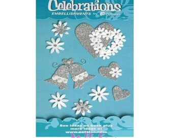 "Special 3D stickers parties ""petaloo"" embellishment scrapbooking card *."