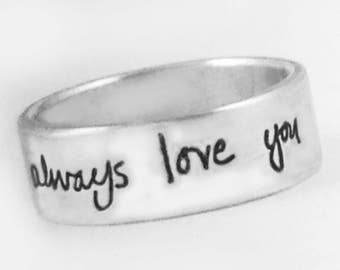 Own Handwriting 6mm Band by donnaodesigns