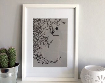 London Plane Tree - Print from original papercut art