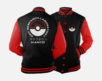 Oak Research Kanto Varsity Jacket inspired by Pokemon JH7CbY