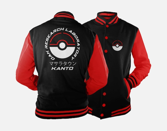 Oak Research Kanto Varsity Jacket inspired by Pokemon STFN1