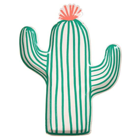 sc 1 st  Etsy & Cactus Paper Plates Meri Meri Fiesta Plate Set of 12