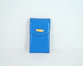 Longchamp Key Chain and Coin Purse - Blue Leather Case