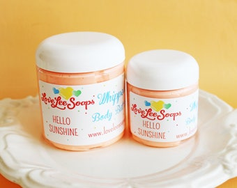 Whipped Body Butter Hello Sunshine - Plumeria, Frangipani, Hawaii, Body Frosting, Body, Whipped Body Lotion, Skin Care, Body Whip, Beach