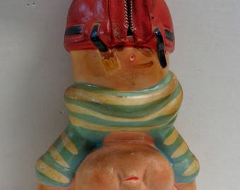 1950s 60s, Bad Taste, Upside Down, Cute Kitchy Doll Toy Bank, LEGO#4535, Made in Japan, double entendre, Probably Politically Incorrect