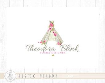 TeePee Logo Party Planner Logo Photography Logo Design Boutique Logo Floral Logo Logo Decor Logo Design Watermark