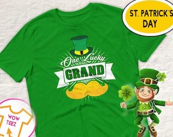 St Patricks Day, Grand  Shirt, One Lucky Grand , Leprechaun Shirt, St Paddy's Day, Irish T-Shirt, Grand  Irish Shirt,  Irish Grand , Grand