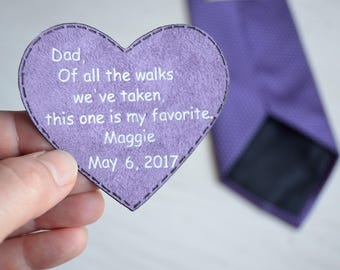 father of the bride gift wedding day tie patch gift for dad of the bride tie patch parents of the bride gift step father of all the walks