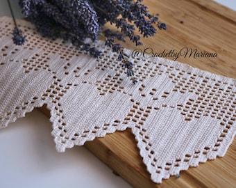 Crochet lace edging, crochet trim, crochet item