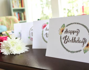 Handmade Birthday Cards 4 count