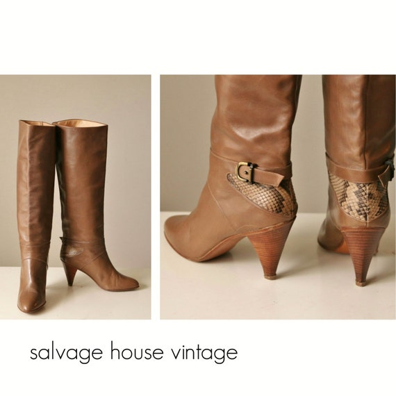 5 5 Snakeskin 2 Joan 6 Size David amp; gt; gt; gt; 1980s Couture 5 Boots 1 to wvxUHOH