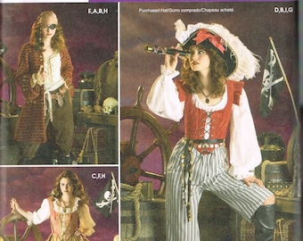 Size 14-20 Misses' Plus Size Costume Sewing Pattern - Lady Pirate Costume - Pirate Queen Costume - Adult Halloween Costume - Simplicity 3677
