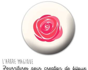 Fancy 25 mm 753 ref beige rose flower cabochon