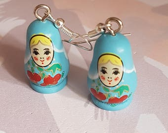 earring matryoshka dolls