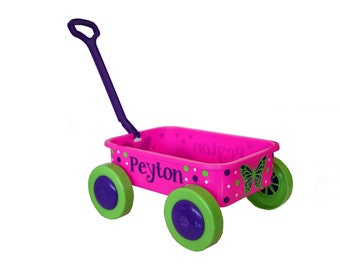 Personalized Short Toy Pull Wagon - Baby Shower / First Birthday