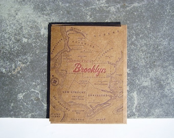 Greetings from Brooklyn - Letterpress Greeting Card with Envelope