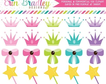 80% OFF SALE Princess Party Girls Clipart Clip Art Personal & Commercial Use Instant Download