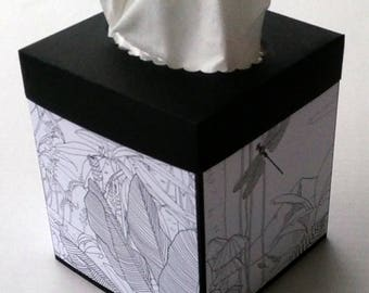 Tissue Box Cover, Coloring Cover Tissue Box Cover, Stampin' Up! Coloring Pages Tissue Box, Stampin' Up! Inside the Lines Tissue Box