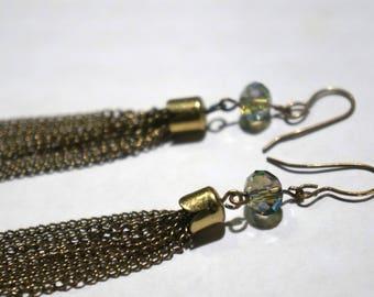 Brass Tassel Earrings