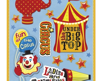 Circus Sticker Medley by Life's Little Occasions, Spotted Canary