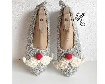 St Nicholas ladies slippers - comfy chunky  house shoes made of wool and alpaca