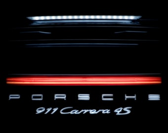 Porsche 911 Carrera 4S Picture, Sports Car Photograph, Luxury Auto Photography, Garage Wall Art, Boys Bedroom Print