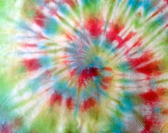 fabric coupon multicolored tie dye cotton