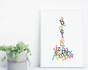 Alphabet Jumble Print
