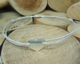 """Le bracelet """"Coeur"""" argenté"""