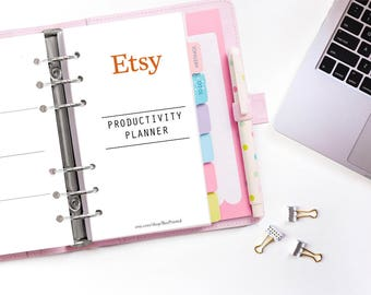 Etsy Planner - Etsy Productivity Planner - Planner Kit - Bundle - Freelancer - Organized etsy - Instant Download - Printable PDF