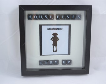 Scrabble House Elves do not live here- Dobby- quirky gift- gift for men- husband - funny christmas present