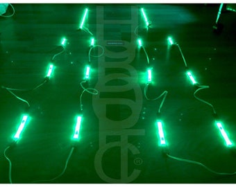 Sound Reactive Green Color LED Lighting for Props Cosplay Stilt Lights Cyber Glow Tron Neon Effects DIY Costume Kit - Custom Light Up Robot