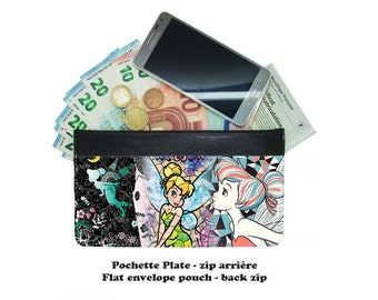 Zip envelope pouch - tinkerbell fée clochette - #003