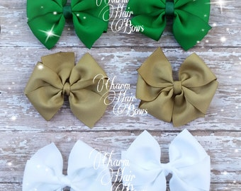 solid color pinwheel bows